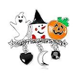 JZTRADING Spilla Donna Spille Vintage Halloween Gioielli Carino di Moda Fiore All'occhiello Sciarpa in Lega Perni per L'artigianato Spilla