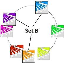 Pulseras Para Eventos GA Event Solution, VENTAJA DE PRECIO, multicolores conjunto B: Violeta – Naranja – Azul Claro, 700 Bandas de Tyvek