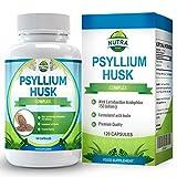Bucce di Psillio, Psyllium Fibra è Un Potente Integratore di Fibre Che Promuove la Regolarità e La Salute Cardiaca e Gastrointestinale, Supportando La Perdita di Peso, Fabbricato UK, 500mg 120 Capsule