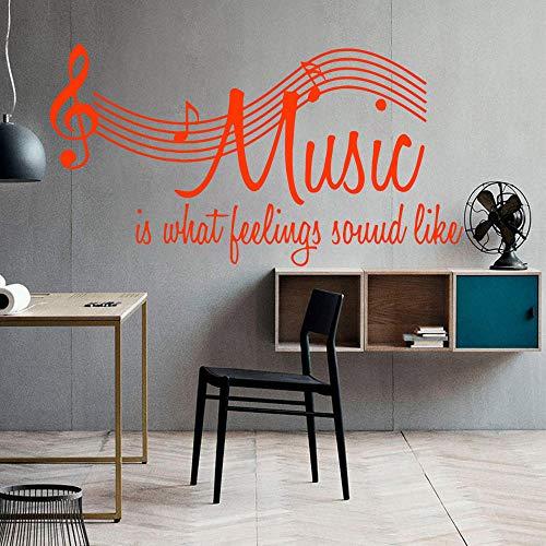 Personalisierte Musik Selbstklebende Vinyl Wasserdichte Wandtattoo Für Wohnkultur Wohnzimmer Schlafzimmer Wandkunst Aufkleber Weiß M 28 cm X 51 cm