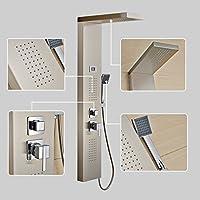 Auralum® Pannello colonna doccia idromassaggio in acciaio