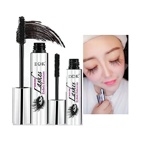 Máscara de maquillaje en crema para pestañas Nicebelle DDK 4D impermeable, color negro, extensiones de pestañas, estilo…