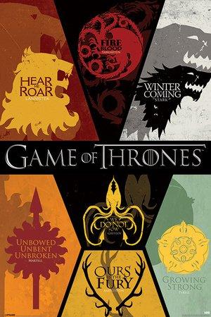 Poster Game of Thrones - Sigils - manifesto risparmio, cartellone XXL