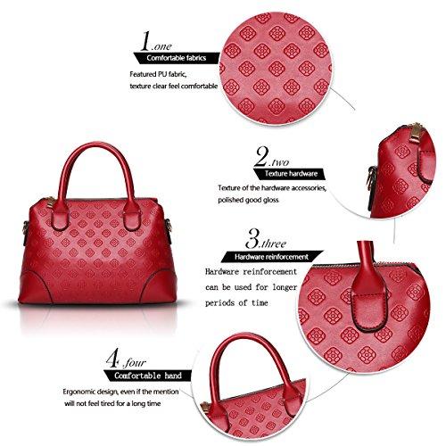 Sunas Il nuovo modo casuale della borsa delle signore ha impresso il sacchetto femminile del messaggero della spalla del sacchetto femminile vino rosso