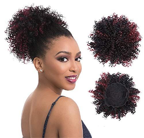 Anmutige High Puff Afro Synthetische Lockiges Haar Pferdeschwanz Perücken Curly Wrap Haarverlängerungen mit ()