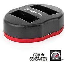 Baxxtar USB Dual cargador TWIN PORT 1834/2 para la batería Panasonic DMW-BLG10 E
