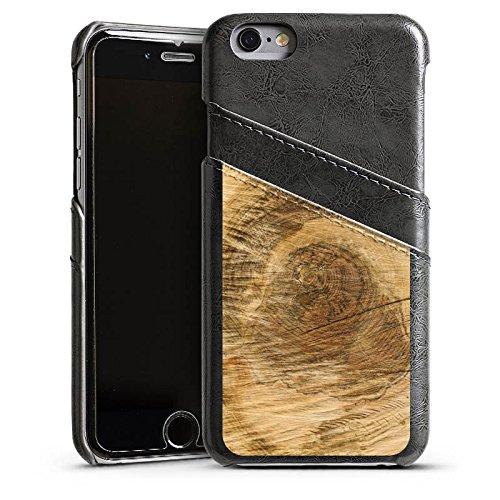 Apple iPhone 4 Housse Étui Silicone Coque Protection Tronc d'arbre Look bois Arbre Étui en cuir gris