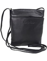 9f95fbd53a583 Jennifer Jones Taschen Damen 100% Leder Damentasche Handtasche  Schultertasche Umhängetasche Tasche klein Crossbody Bag grau…