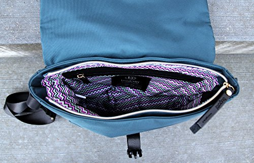 Bugatti® Contra tempo Ladies Borsa a tracolla, tracolla per donna con cerniera | di alta qualità da donna tracolla in nylon rosso Rot Blau