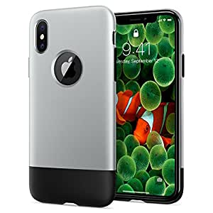 Spigen Coque , [Classic One] iPhone 1st Generation 10th Year Anniversary [Special/Limited Edition] Coque Housse Etui pour Apple iPhone X (2017) - [Aluminum Gray]