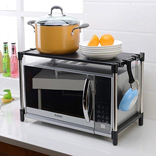MENA HOME/ Einschichtige einstellbare Edelstahl Mikrowelle Backofen Regal Küche Regal Ofen Rack Sortierung Zulassung Regal ( Farbe : #4 ) -