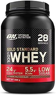 Optimum Nutrition Gold Standard 100% Whey Proteína en Polvo, Glutamina y Aminoácidos Naturales, BCAA, Extremo