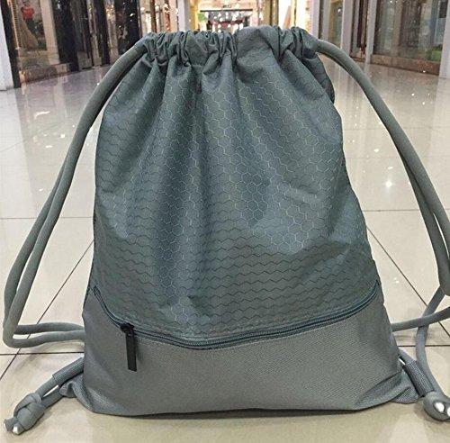 Imagen de  de gimnasio,gzqes,bolsos de gimnasio para hombres mujeres,bolsa de fitness, para escalada,bolsa de deportes,45 x 35 cm gris