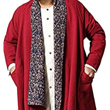Honghu Vestido retro del Cabo Chaqueta para Hombre Un tamaño