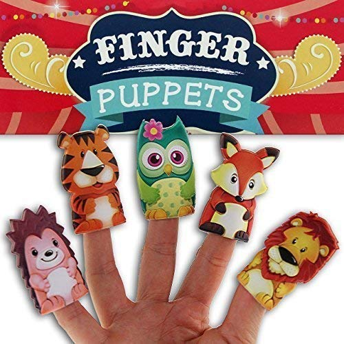 5 Stück Fingerpuppen Set Tiere Kinder Baby Spielfigur Tierfiguren Mitgebsel