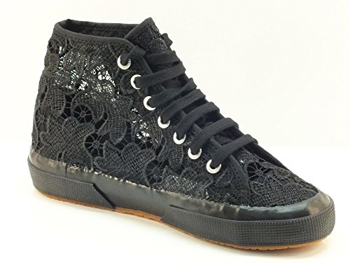 Superga 2795-Macramew, Sneaker, Donna full black