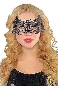 Amscan Internacional Máscara adultos Filigrana (Negro)