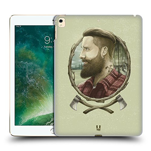 Head Case Designs Holzhacker Männliche Hipsters Ruckseite Hülle für iPad Pro 12.9 (2017)
