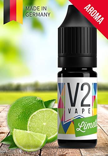 V2 Vape Limette AROMA / KONZENTRAT hochdosiertes Premium Lebensmittel-Aroma zum selber mischen von E-Liquid / Liquid-Base für E-Zigarette und E-Shisha 10ml 0mg nikotinfrei