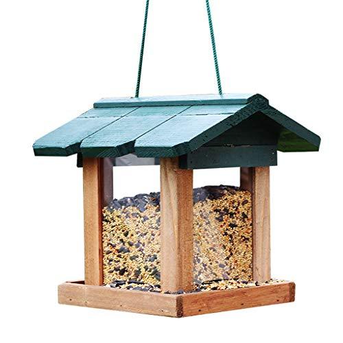 LULUDP Futterstationen für Wildvögel Hofgartenlandhauslandschaft der hölzernen Vogelzufuhr im Freien füttert Vogelfuttervogelbeobachtung im Garten arbeitend Gartendekorationregendekorationsdekorations