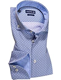 Jacques Britt Herren Hemd Phil Oberhemd, Größe: 43, Farbe: Blau