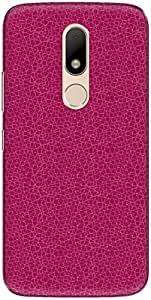 The Racoon Lean printed designer hard back mobile phone case cover for Motorola Moto M. (Mesh Pink)