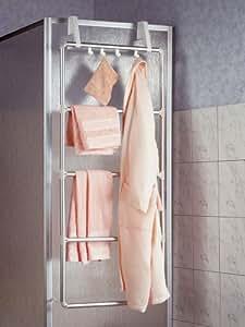 wenko 3302100 handtuchhalter f r t r und duschkabine family 5 sprossig k che haushalt. Black Bedroom Furniture Sets. Home Design Ideas