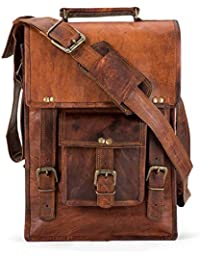 Anshika International Original Leather Vertical Sling Bags For Men, Women, Boys, Girls, Tablet, College, Office...