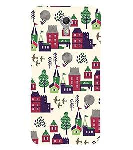 Fiobs Designer Back Case Cover for Lenovo ZUK Z1 (All Things Rail House Balloons Trees Farm)