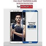 Dashmesh Shopping Honor 7X Premium (Edge To Edge - Full Glue) Full Screen Edge To Edge Tempered Glass - Blue