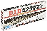 DID 520 VX2 Cadena para motocicleta, 112 eslabones (X-ring), con cierre de remaches