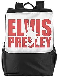 Preisvergleich für fuoalf Elvis Presley Schule Reise Laptop Schultern Rucksack Tasche, schwarz, Einheitsgröße