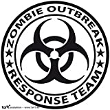 Zombies Poster-Sticker Autocollant - Zombie Outbreak Response Team (9 x 9 cm)