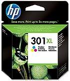 HP 301XL Cartouche d'Encre Trois Couleurs (Cyan, Magenta, Jaune) Grande Capacité Authentique
