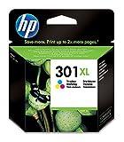 HP 301XL Farbe Original Druckerpatrone mit hoher Reichweite für HP Deskjet 1000, 1010, 3000, 1050, 1050A, 1510, 2050, 2050A, 2510, 2540, 3050, 3050A, 3055A; HP Officejet 2620, 4630; HP ENVY 4500, 4504, 5530