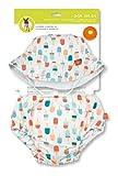 Lässig 1431011106 Baby Swim Set Hut und Schwimmwindel girls, Ice Cream, 18 Monate, mehrfarbig