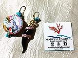 Orecchini Monachelle zama + corona zama con brillantini +chips in turchese con corno in ceramica e tamburello dipinto a mano napoletano
