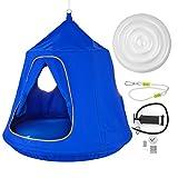 Olibelle Tente Suspendue Cacoon Tente d'arbre Suspendu 45 D x 54 H Tente Jeu Exterieur Tente Suspendue dans Les Arbres Balançoire pour Enfant Couleur Bleu