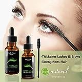 Clifcragrocl sopracciglia ciglia crescita siero 10ml olio di ricino biologico Eyelash Enhancer nutriente
