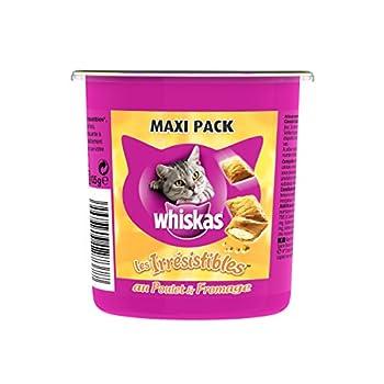 Whiskas Irrésistibles Maxi au Poulet/Fromage Friandises pour Chats Boîte de 105 g