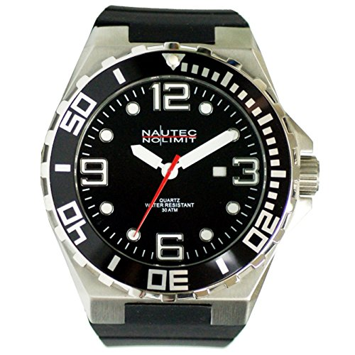 Nautec No Limit men's Quartz Watch Analogue Display and Rubber Strap STUR-QZ-RBSTBK-BK