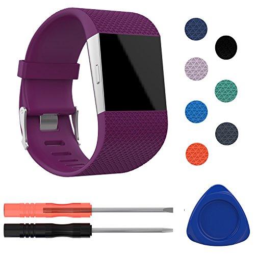 Fitbit Surge Gurt/Armband, mtsugar Neueste bunten Ersatz zubehör armband mit verstellbarem Bukle für Fitbit Surge(nur für Fitbit Surge)