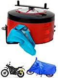 #8: Bike Blazer cover Semi Automatic UNIVERSAL FULL BODY BIKE COVER for ALL Types of Two Wheelers (Water Proof Bike Cover_Blue) Cover