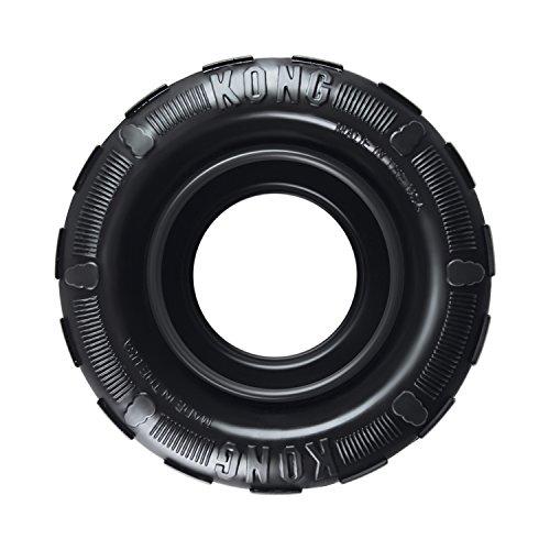 KONG - Tires - Gioco gomma resistente da masticare, dispenser premi, masticazione energica - M/L