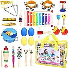 Diese riesige Sammlung von Musikinstrumente für Kinder wird eine großartige Quelle für Spaß, Lernen oder beides zur gleichen Zeit sein. Es besteht hauptsächlich aus percussion instrumenten wie Tamburinen, Maracas, Kastagnetten, Xylophonen und verschi...