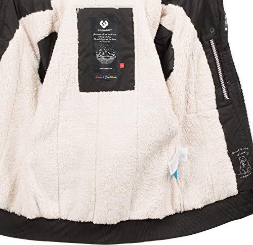 Ragwear Damen Winterjacke Outdoorjacke Ewok Schwarz018 Gr. M - 5