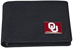 NCAA Oklahoma Sooners Men's Nylon RFiD Safe Travel Wallet, 4.25 x 3.25