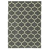 IKEA ASIA Stockholm 2017 Teppich flach gewebt handgemacht Netzmuster Muster weiß grau