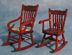 Dolls Houses - Interior Furniture - DF114 - Pair Rocking Chairs