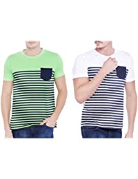 Stylogue Trendy Round Neck Half Sleeve Combo T-Shirt For Men